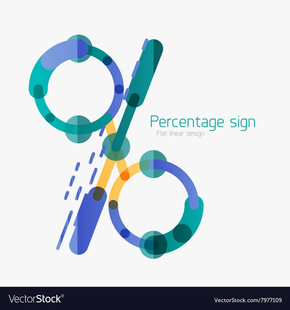 Percentage sign background