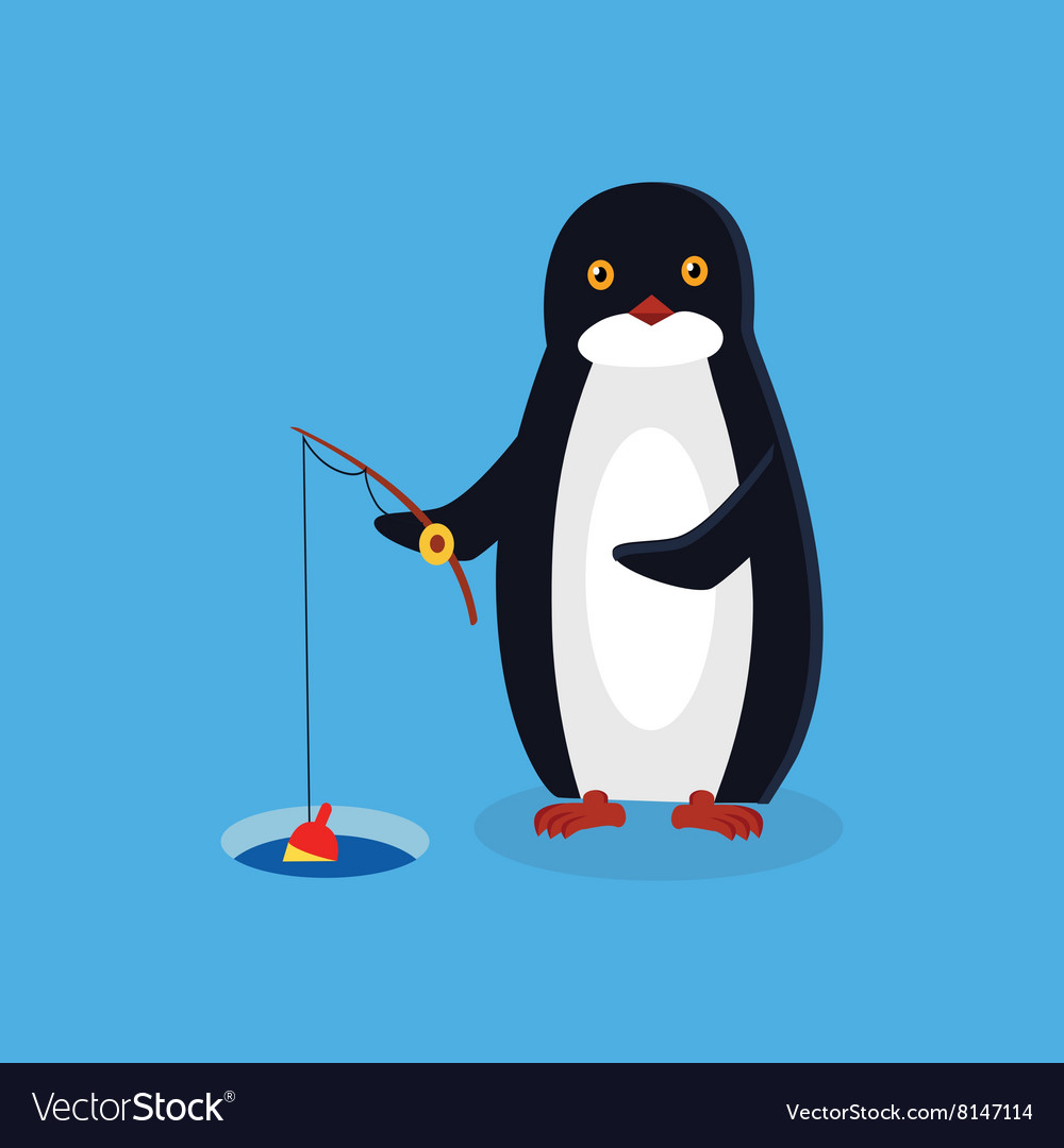 Animal Pinguin Design Flat vector image