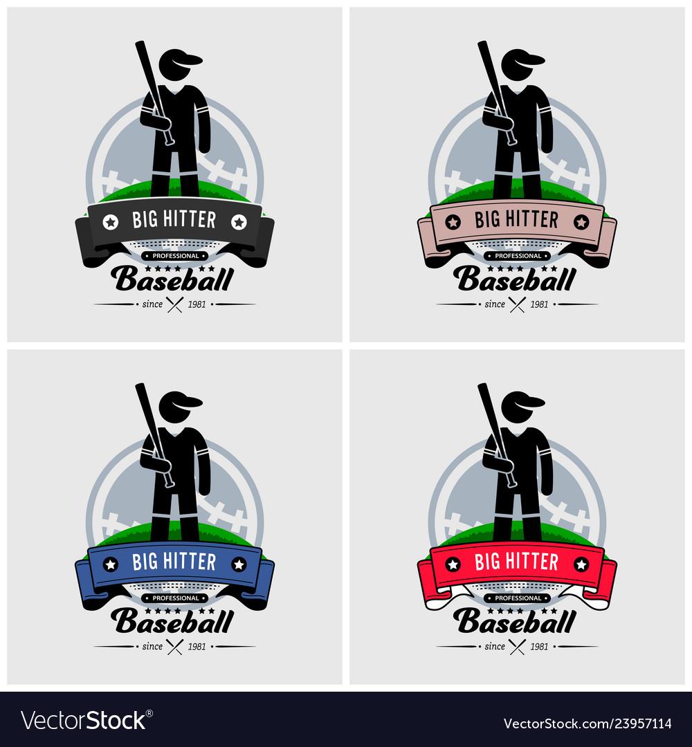 Baseball club logo design artwork of baseball