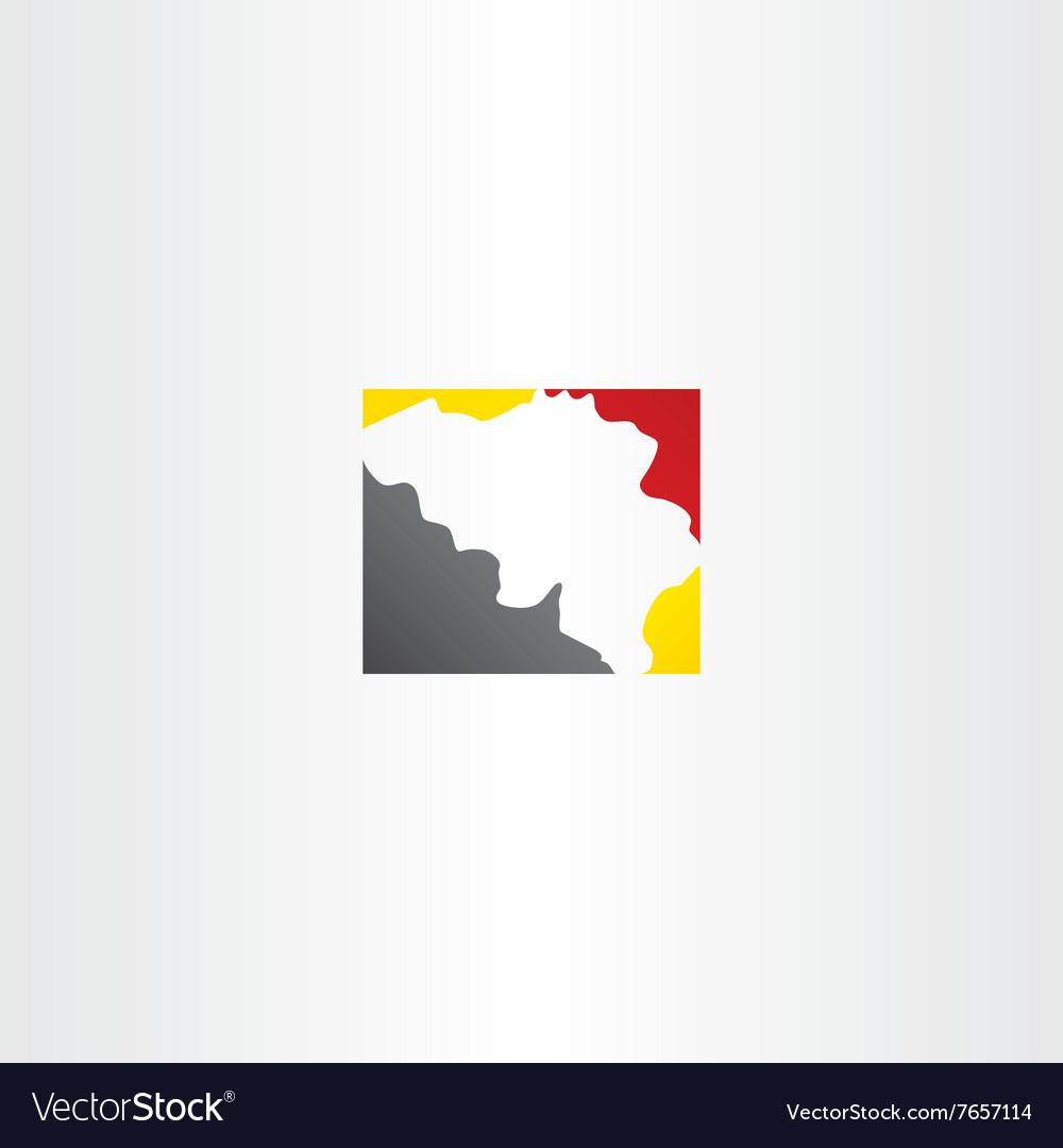 Belgium map logo icon