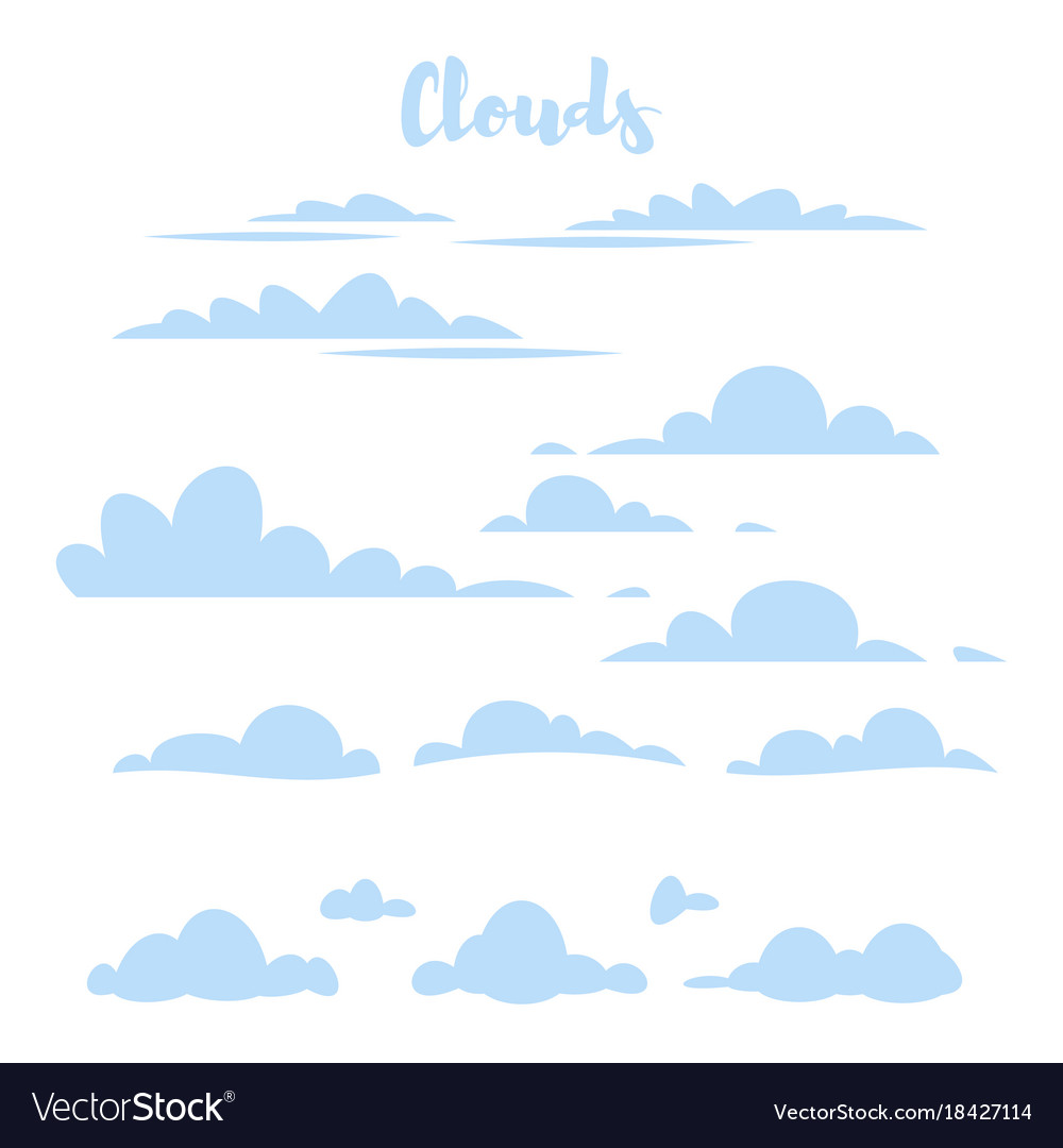 Blue simple clouds
