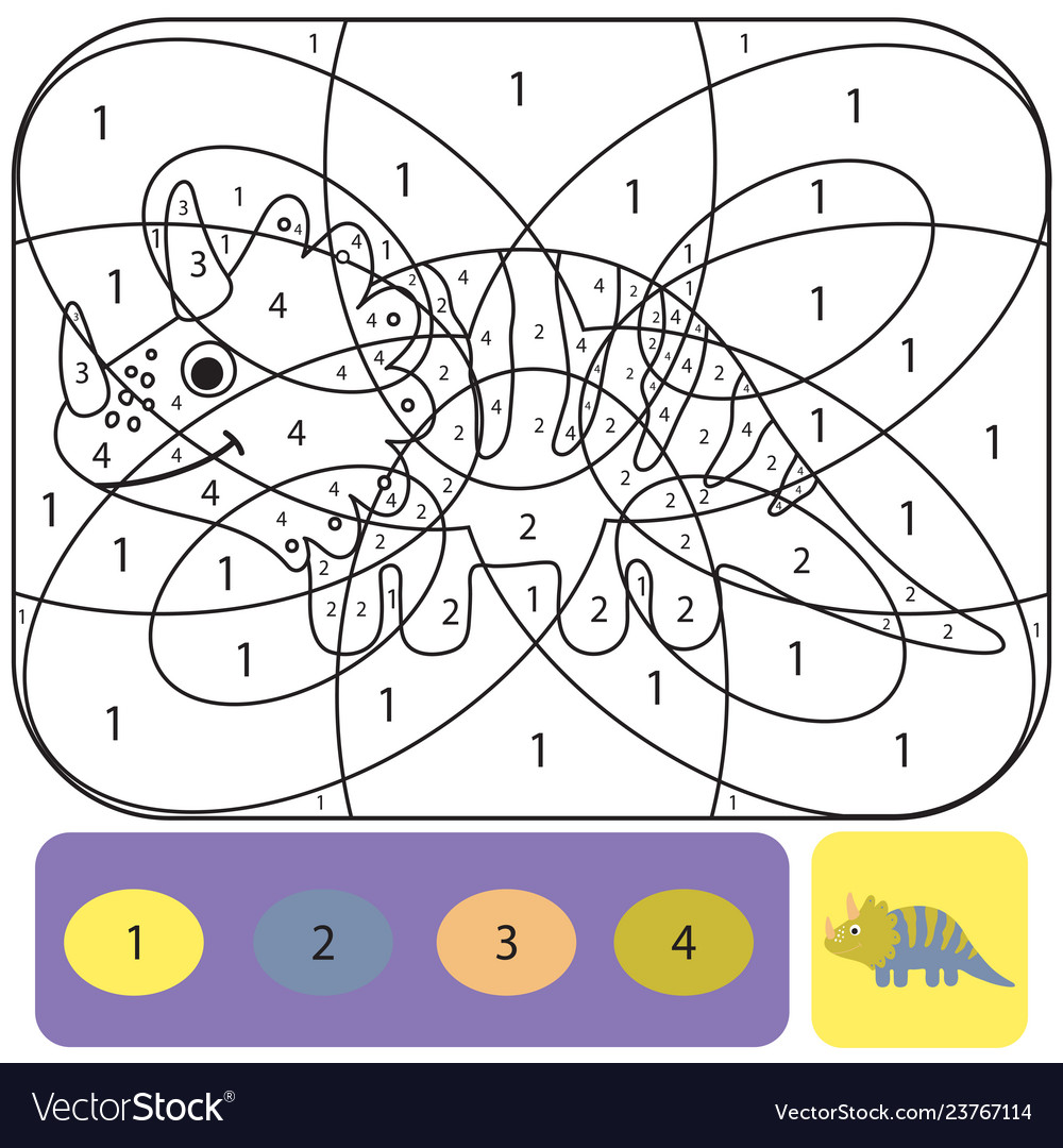 Cute dino coloring page for kids coloring puzzle