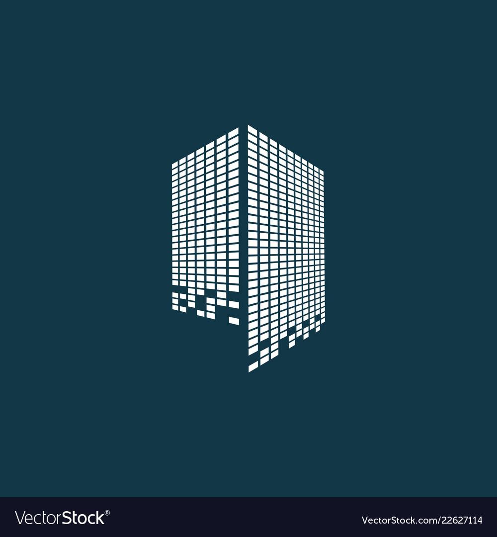 Modern city skyline logo