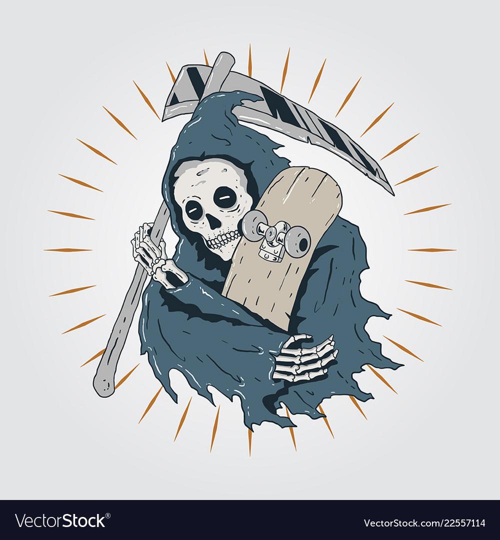 Skateboard grim reaper