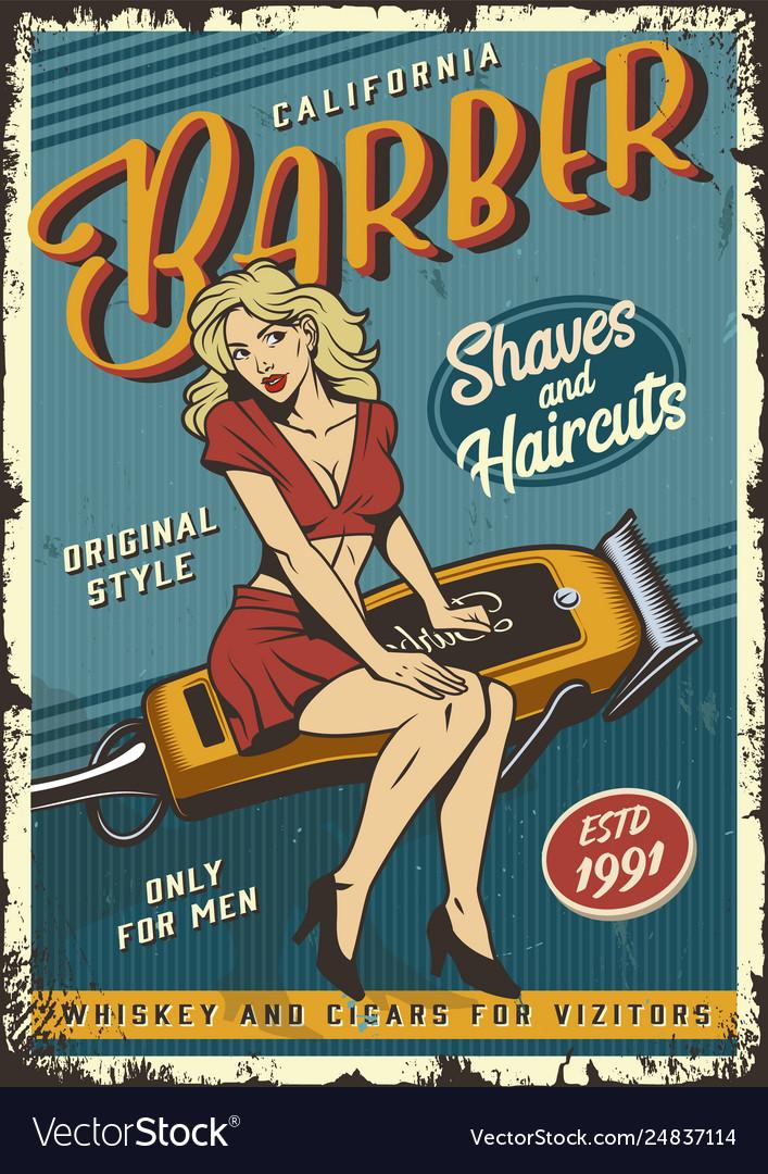Vintage barbershop poster