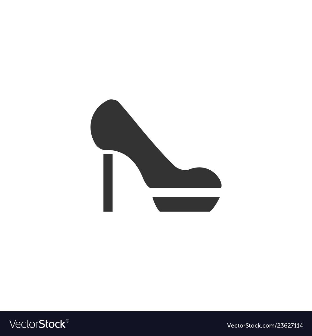 Woman shoes icon flat