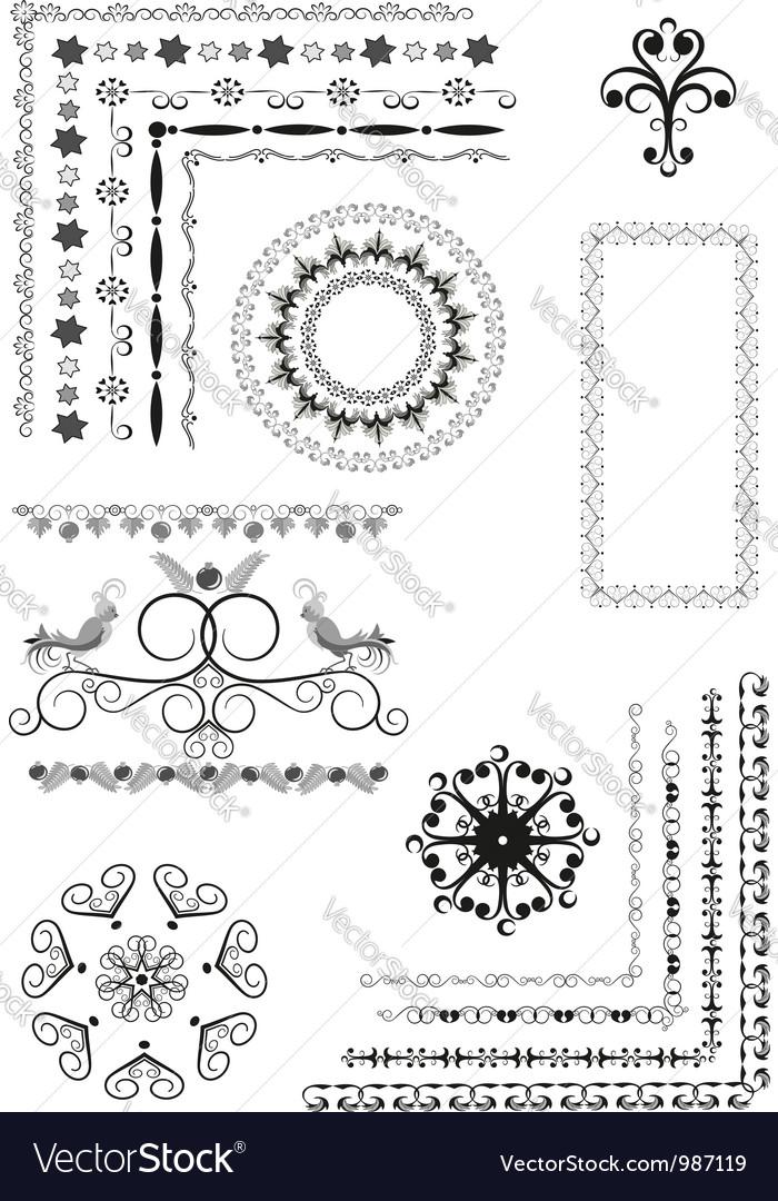 Decorative border frame ornament