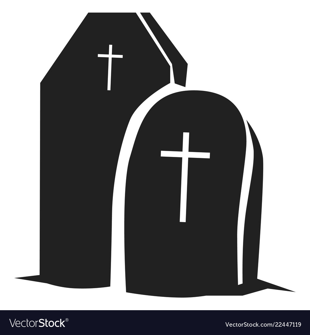 Grave icon simple style