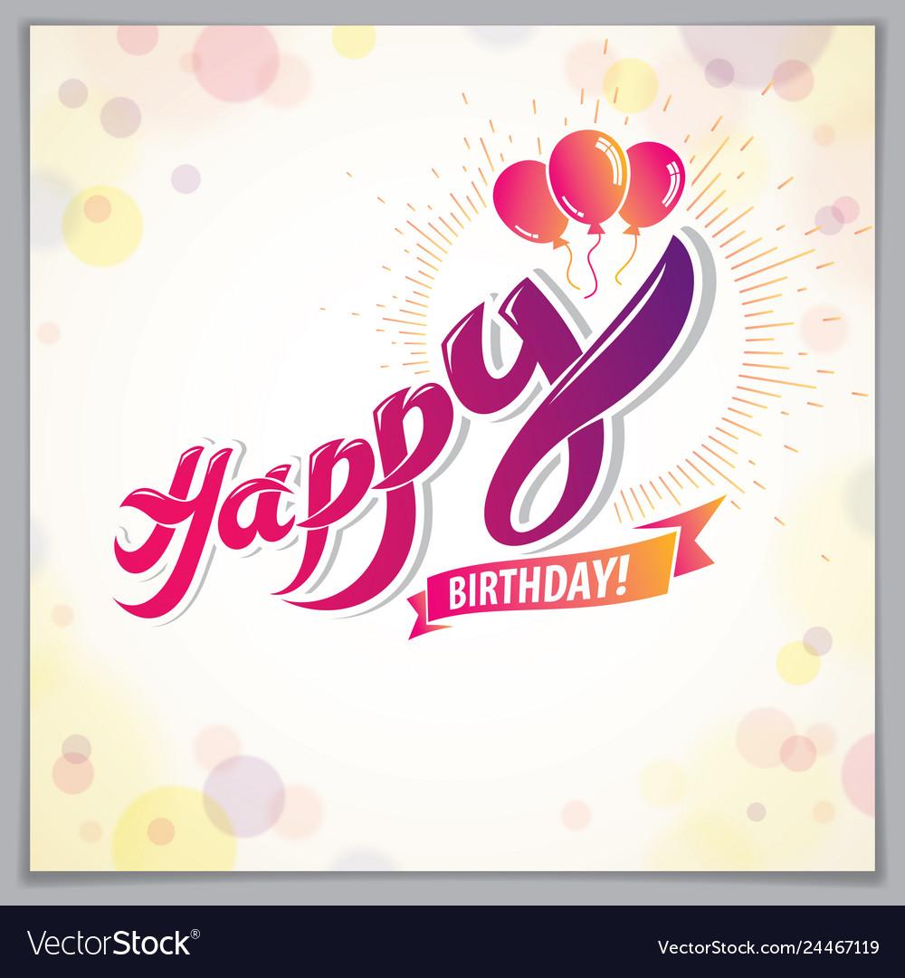 Happy Birthday Beautiful Greeting Card Design