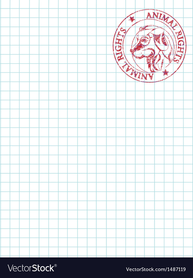 Math paper with stamp