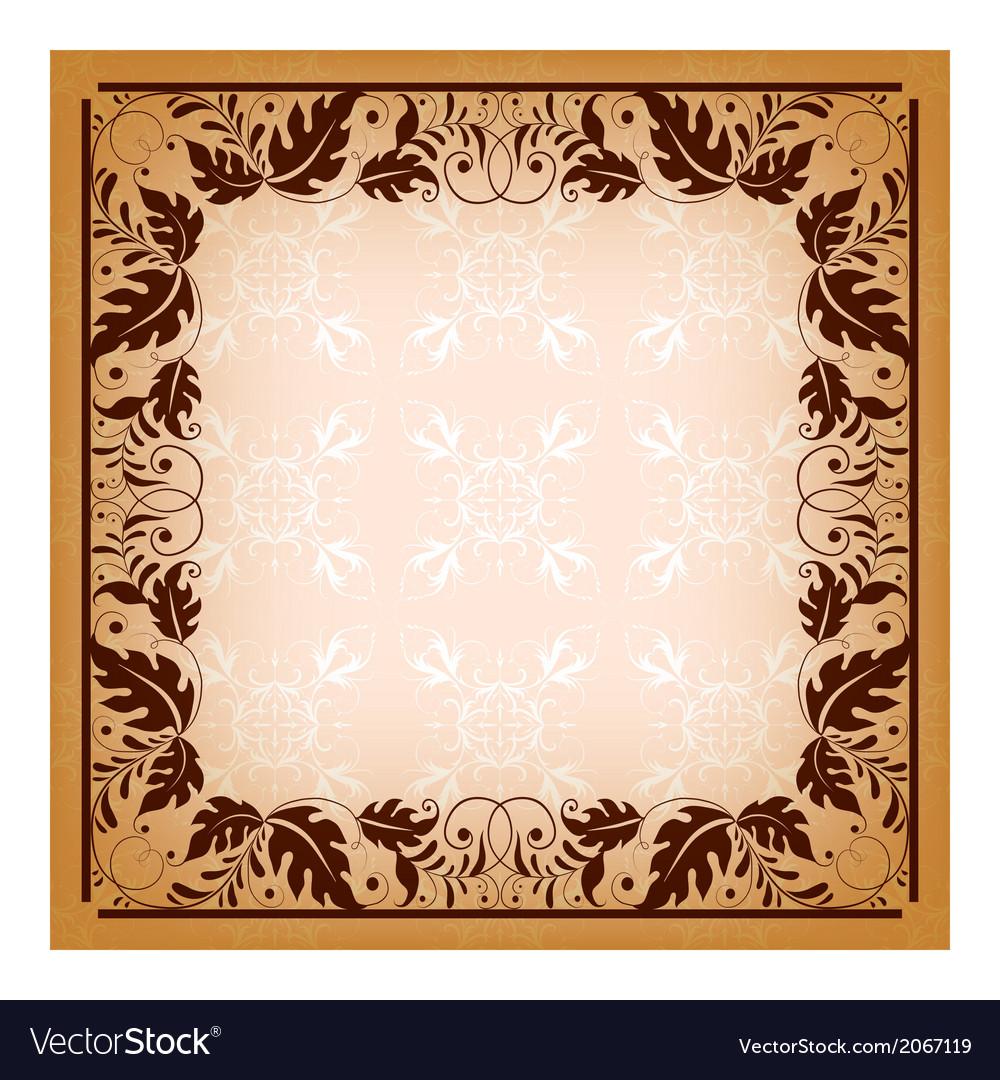 Royal invitation with elegant damask frame