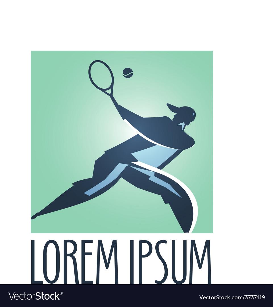 Tennis logo design template Tennis Court