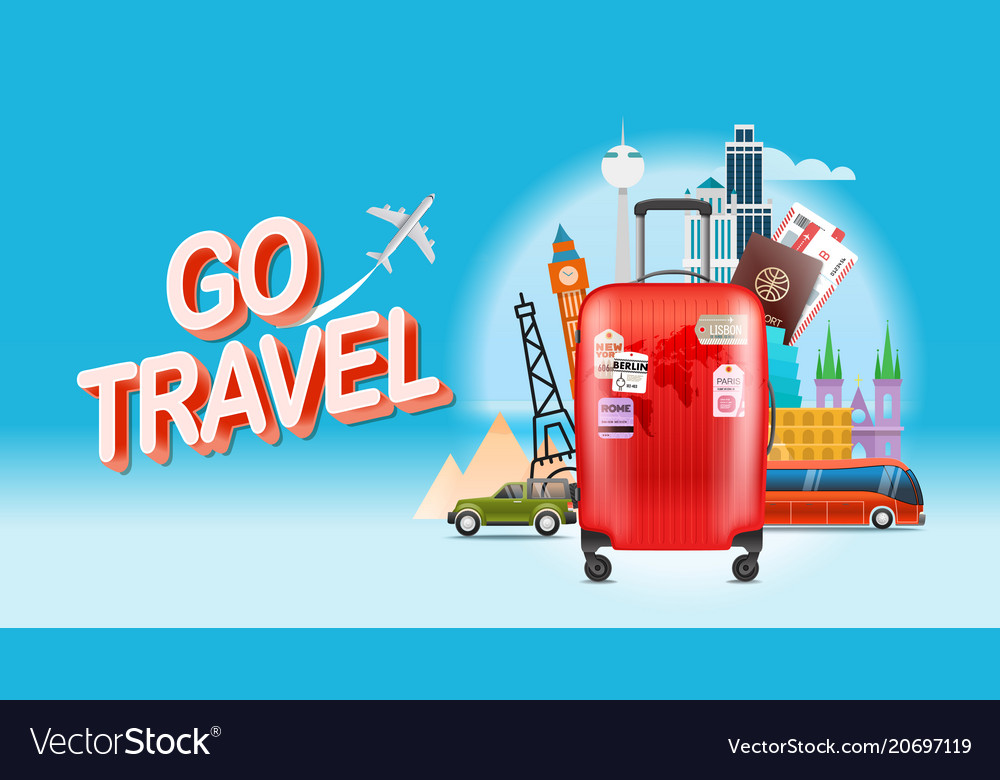 Vacation travelling concept go travel travel with