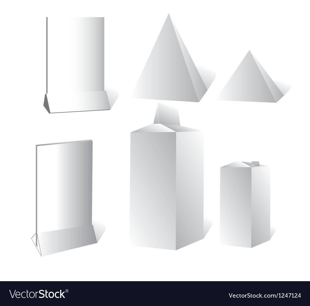 Advertising a box advertising board vector image