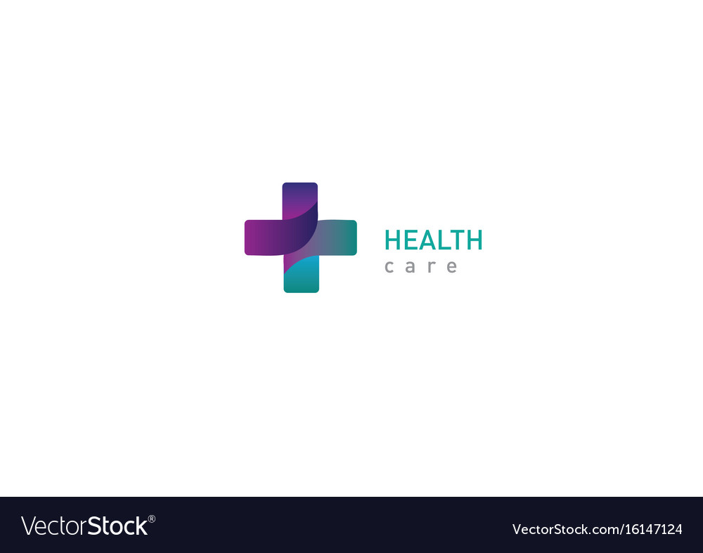 Bright logo on medicine and health cross