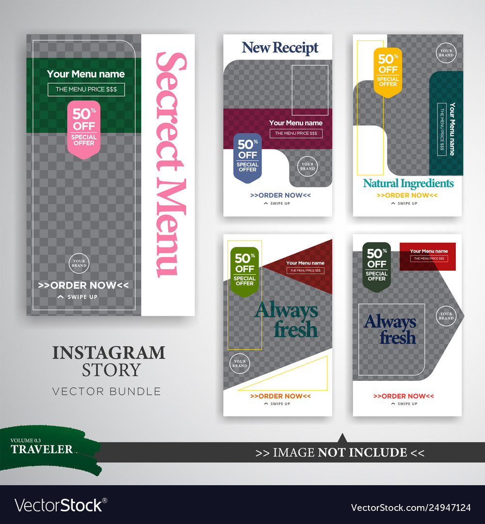 Elegant layout instagram stories template for