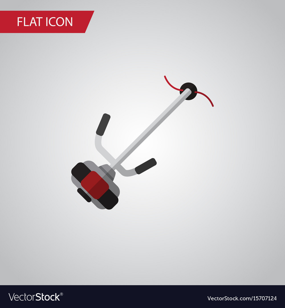 Isolated lawn mower flat icon grass-cutter vector image on VectorStock