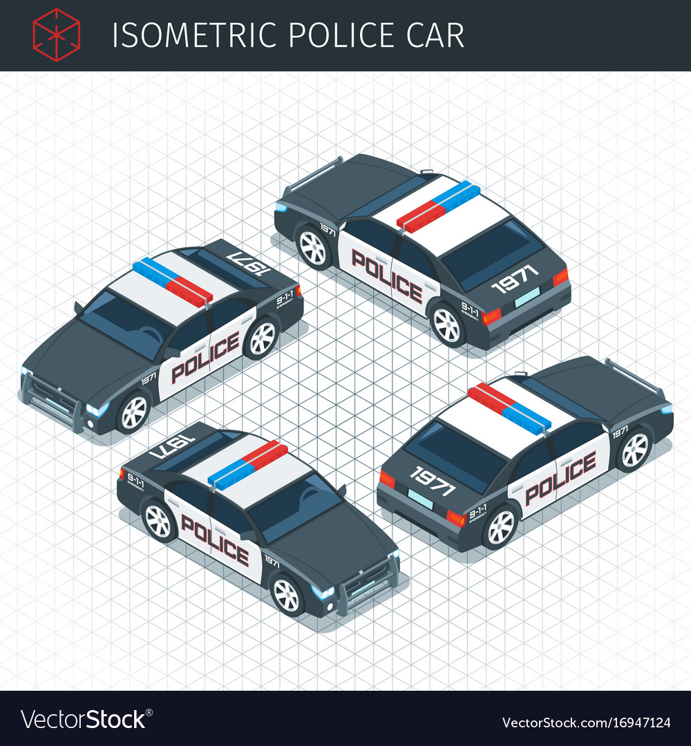 Isometric police car
