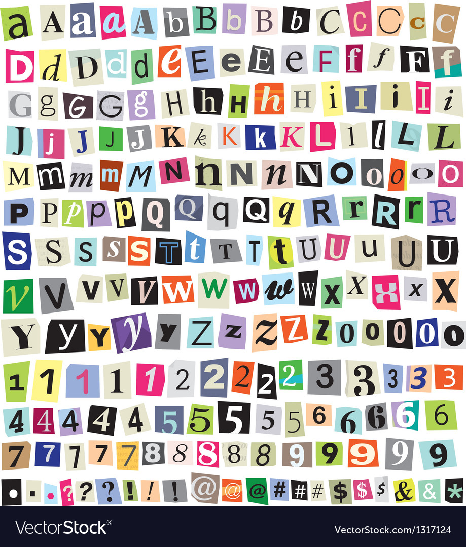 Ransom note vector image