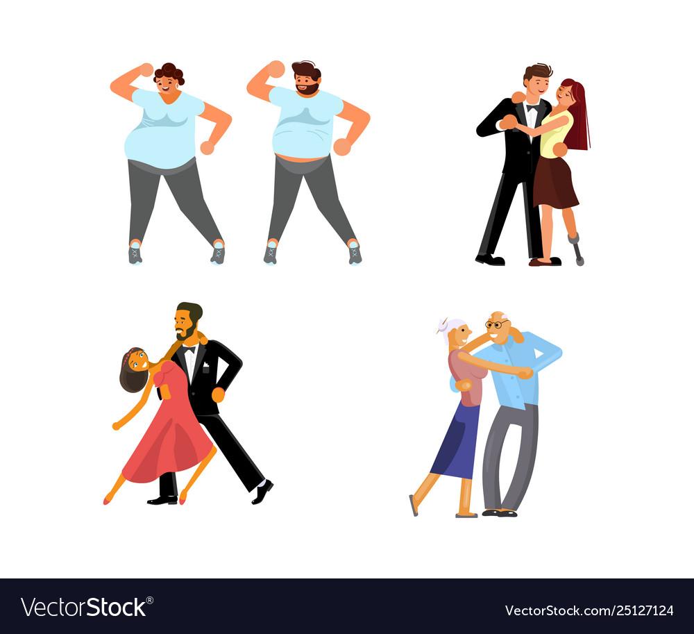Set dancing couples