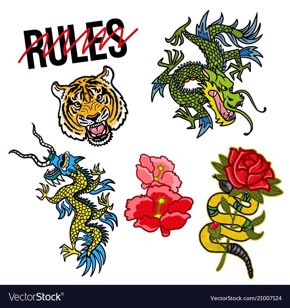 Set sticker pac on japan topic