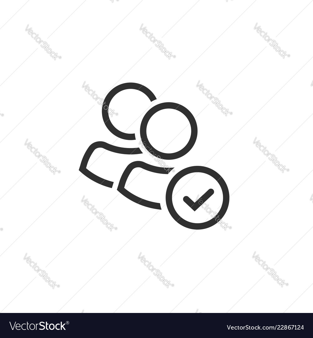 User group icon line art outline persons