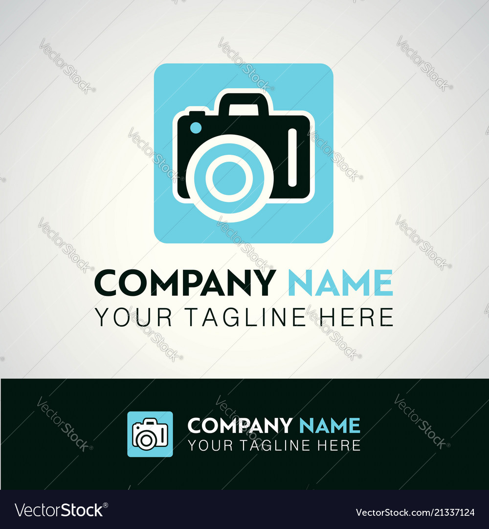 White and sky blue icons for photographer on