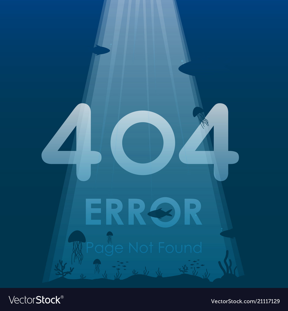 404 error page not found in under ocean