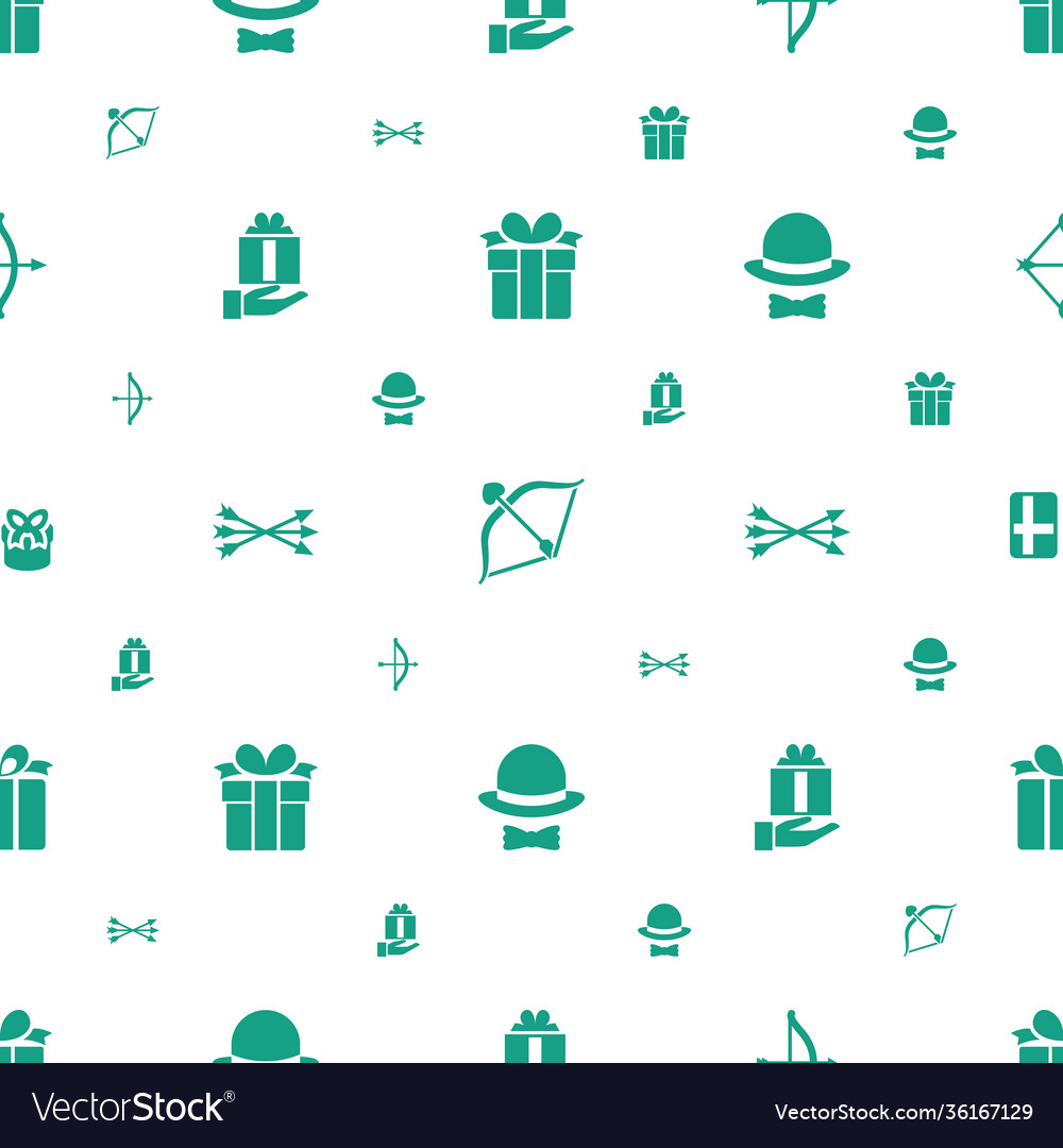 Bow icons pattern seamless white background