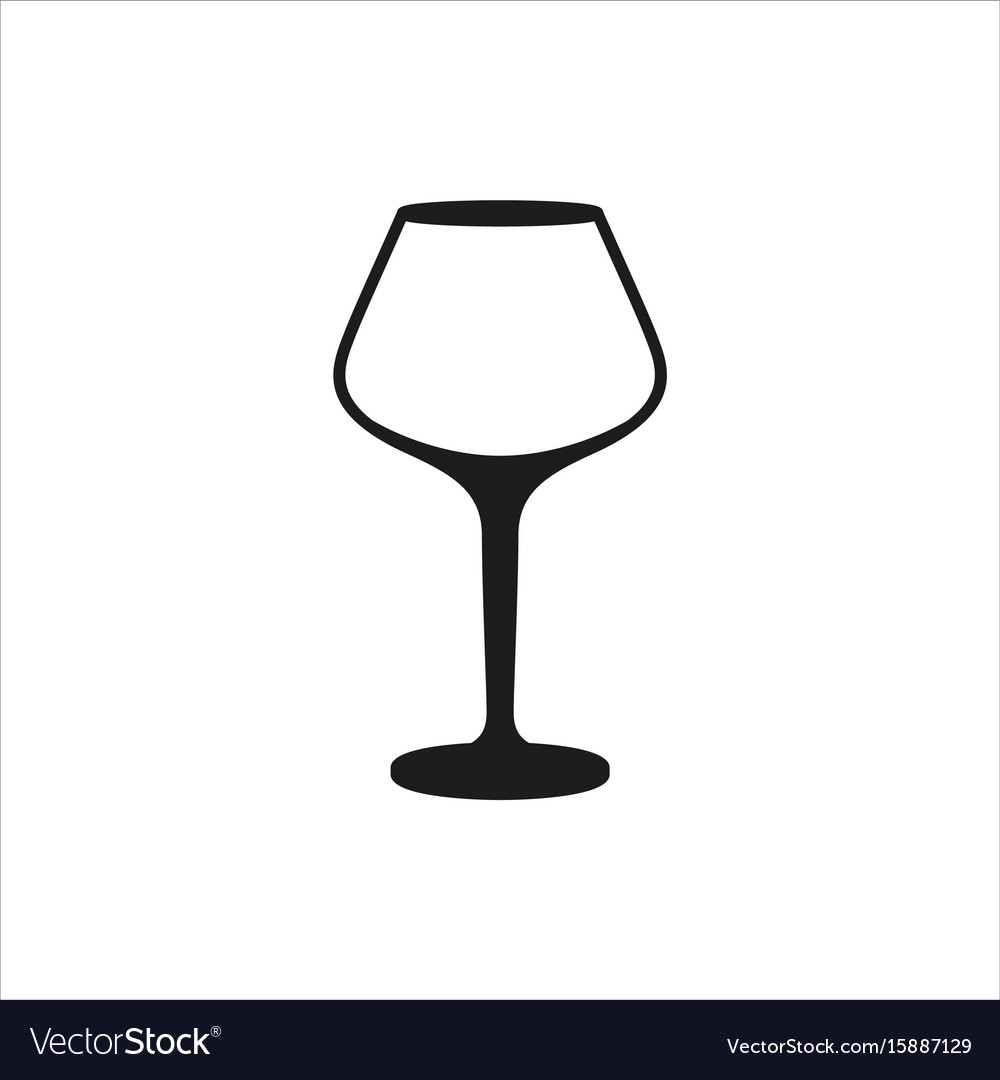 Empty wine glass icon monochrome style