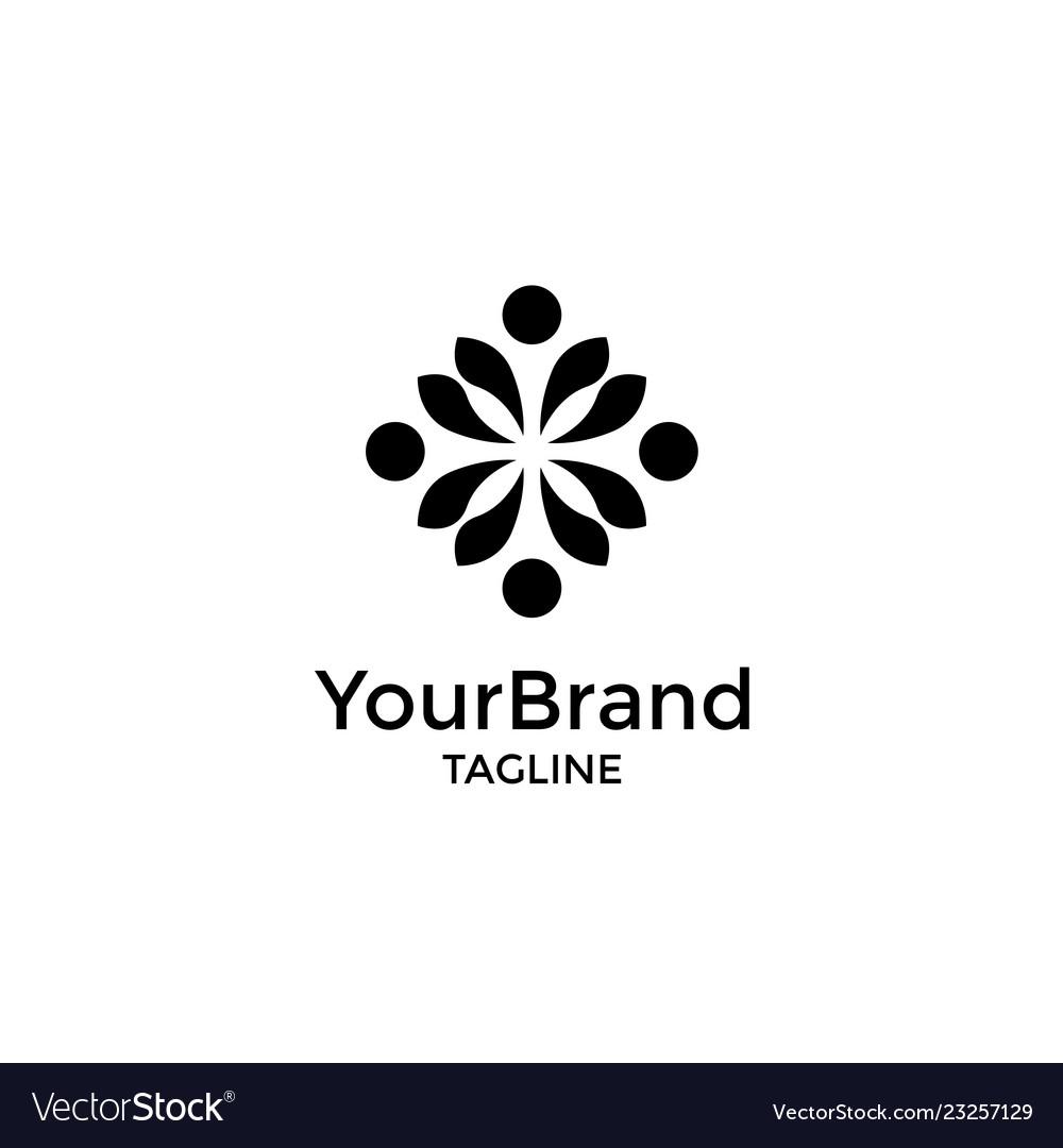 Luxury geometric with dot logo template