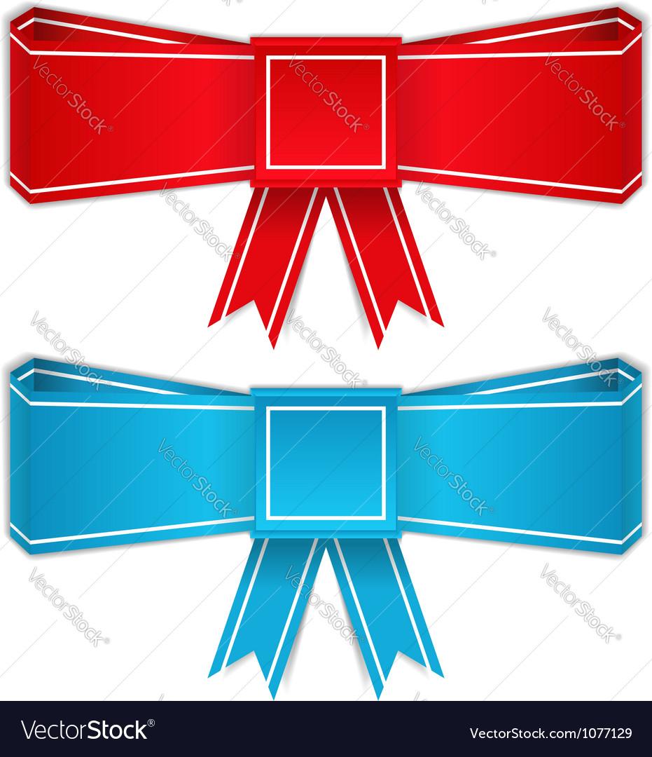 Origami Bows Royalty Free Vector Image Vectorstock