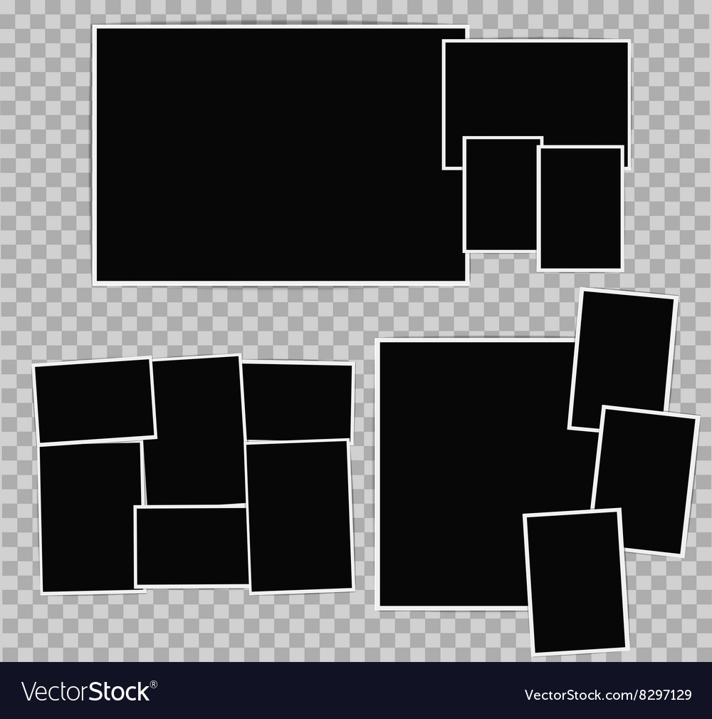 Photo album composition vector image