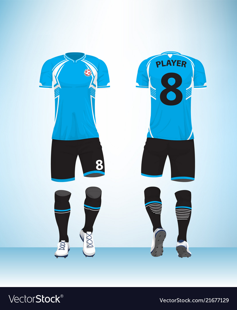 Uniform football blue black