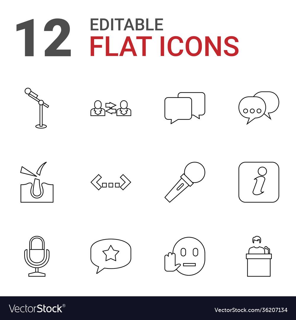 12 speech icons