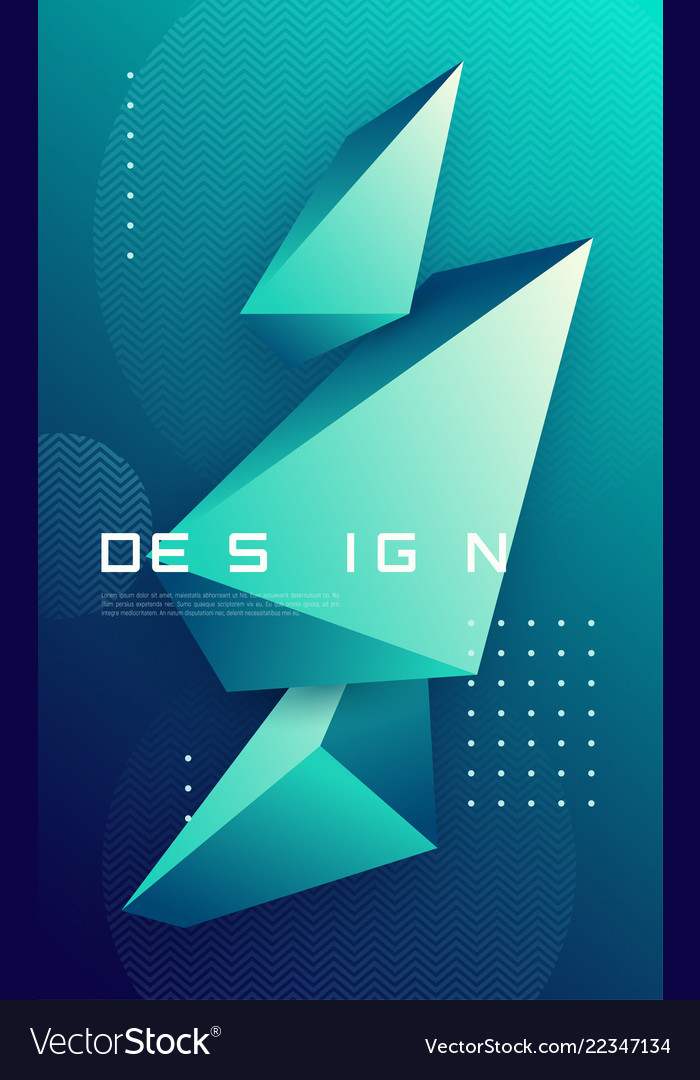 Abstract geometric background with 3d