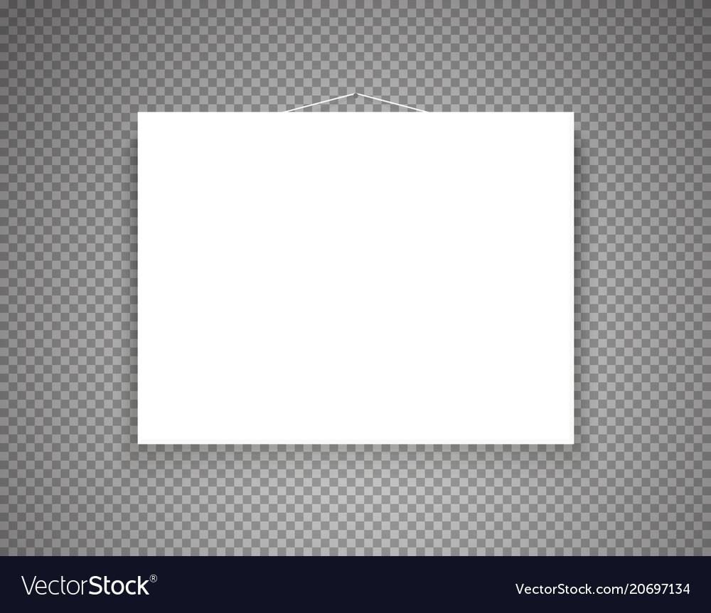 Blank Picture Frame On Transparent Background Vector Image