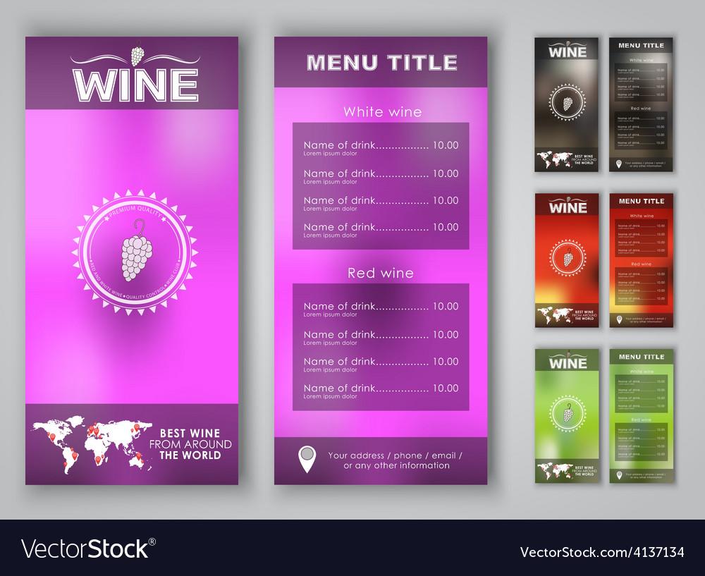 Blur menu wine