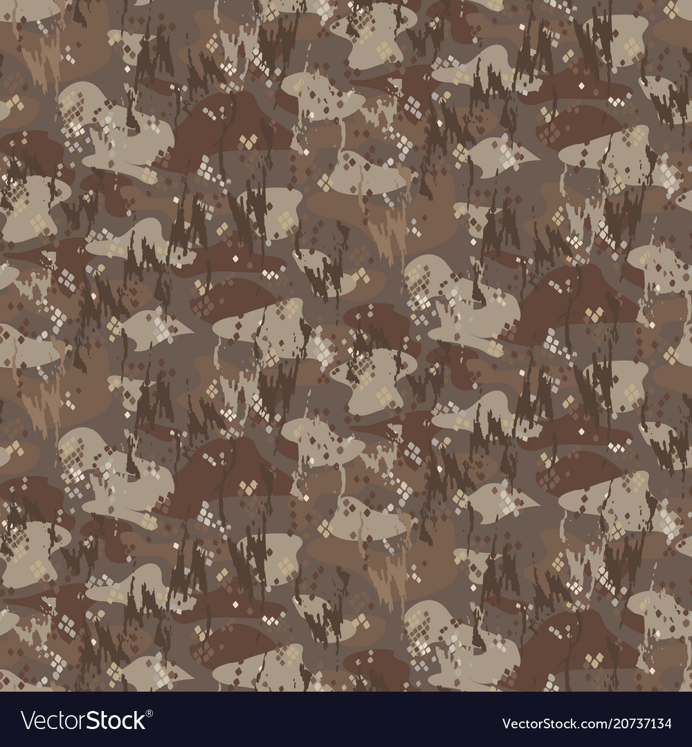 Camouflage spots and brush strokes seamless