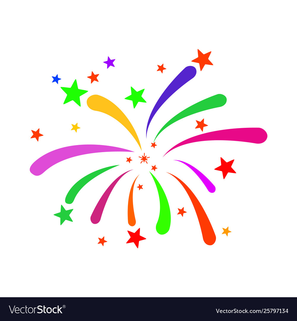 Fireworks icon flat Royalty Free Vector Image - VectorStockFireworks Icon