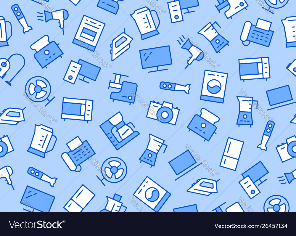 Household appliances electronics store seamless