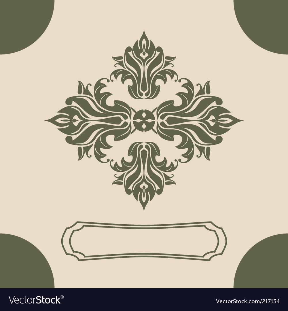 Royal design element vector image