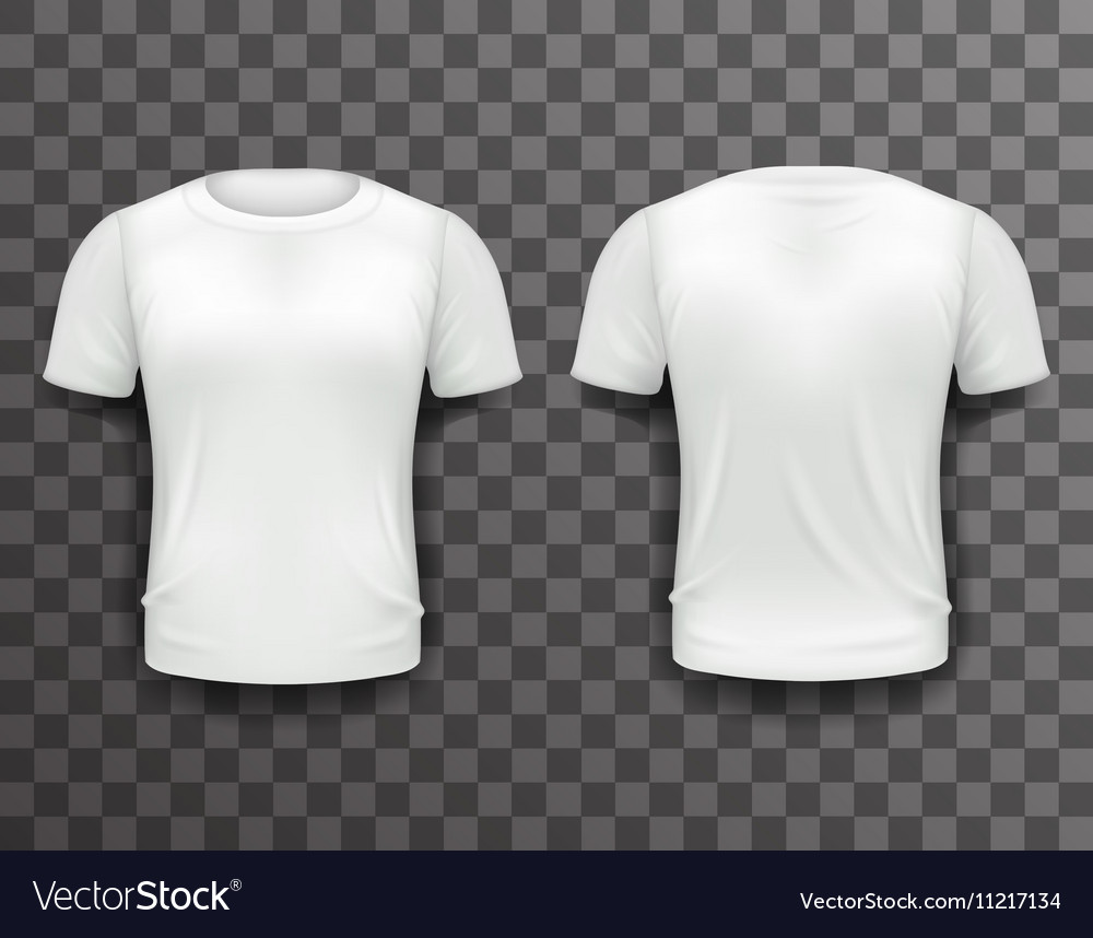 T Shirt Template Front Back Realistic 3d Design Vector Image