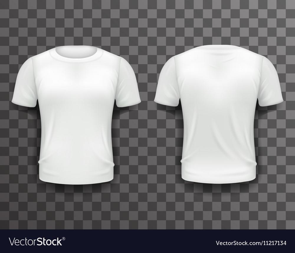 729f7e8050f7d4 T-shirt Template Front Back Realistic 3d Design Vector Image