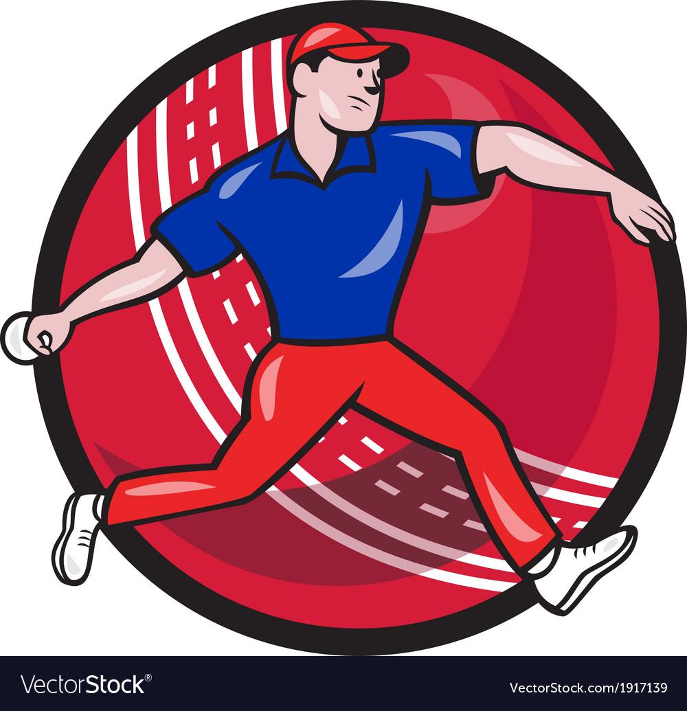 Cricket Bowler Bowling Ball Cartoon