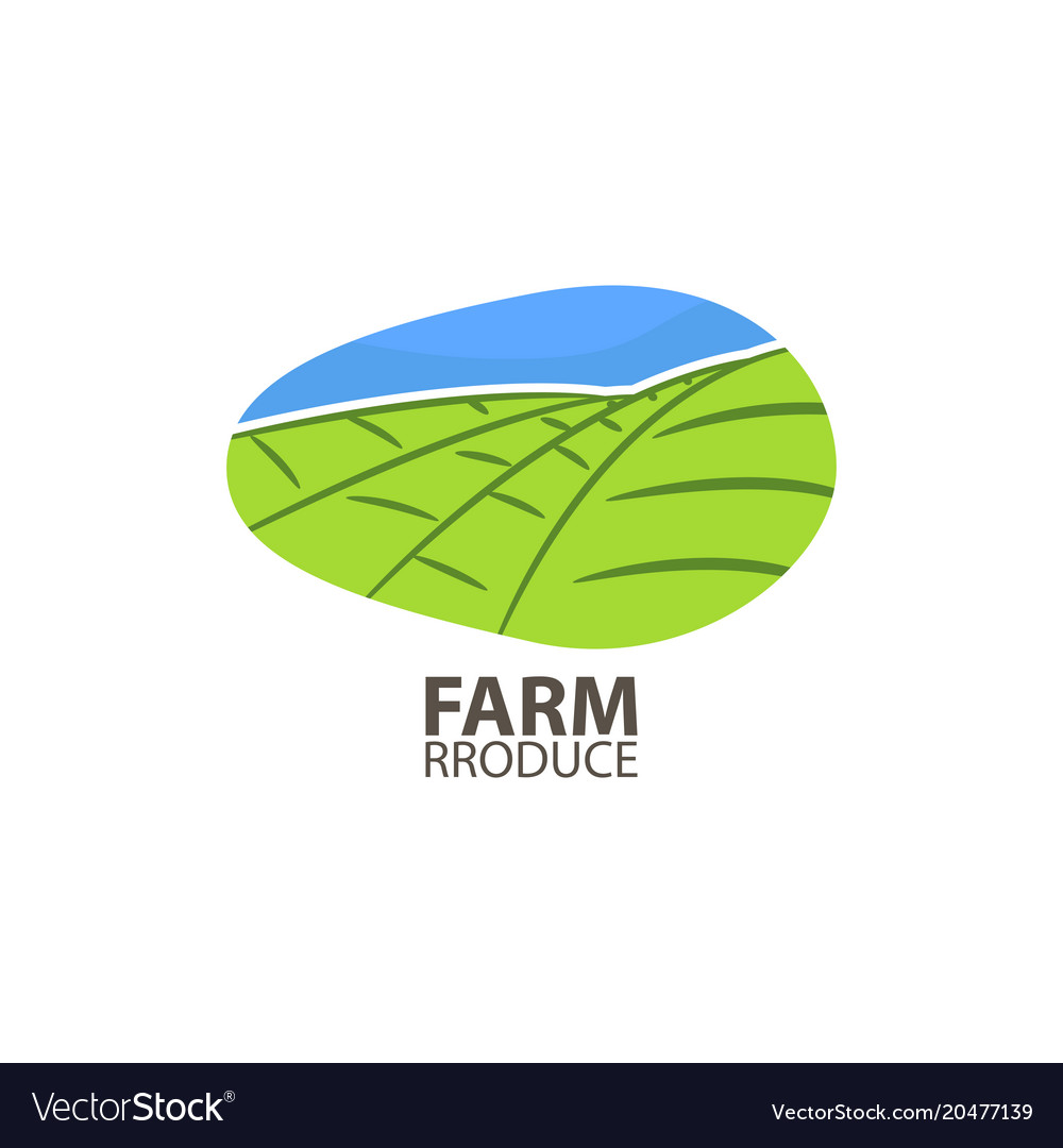 Farm produce logo design template