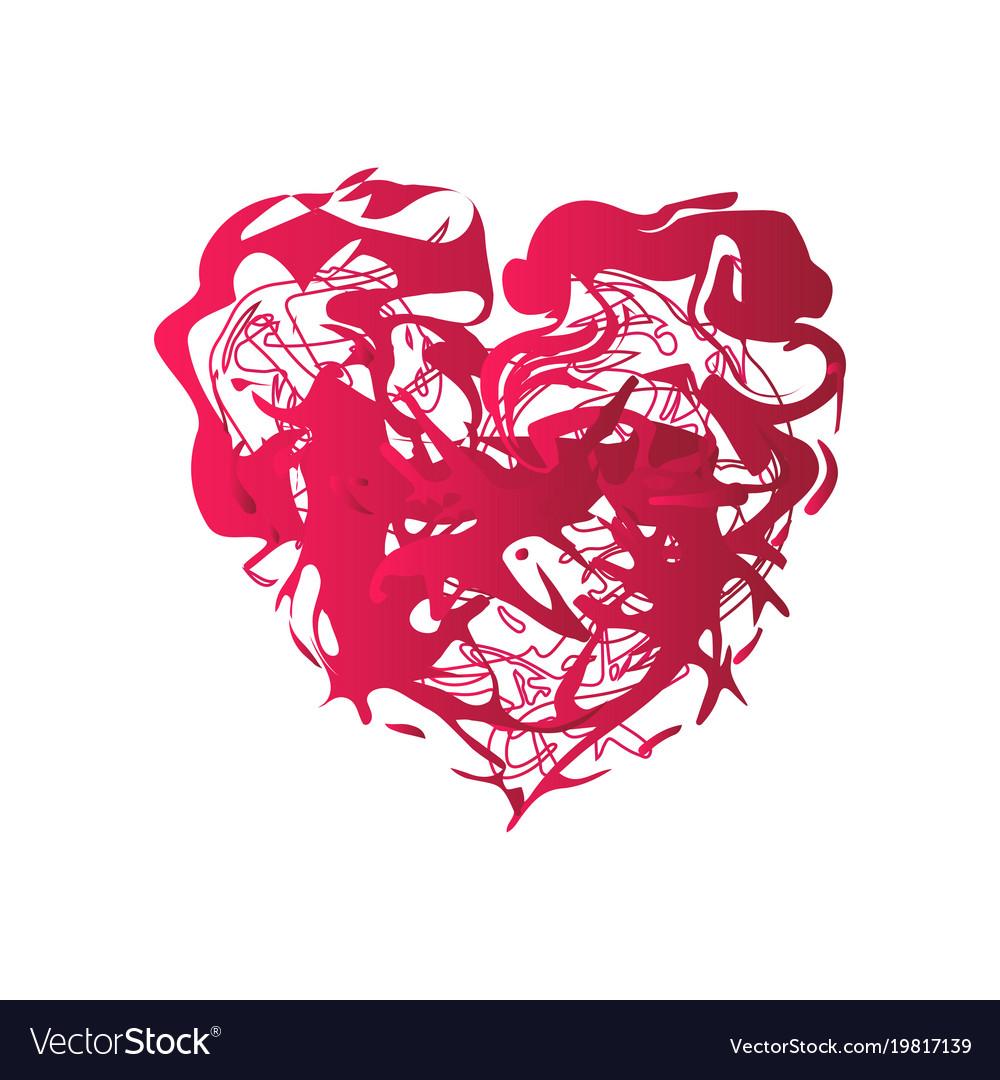 Grunge splash heart