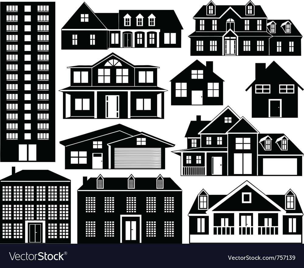 House silhouettes set