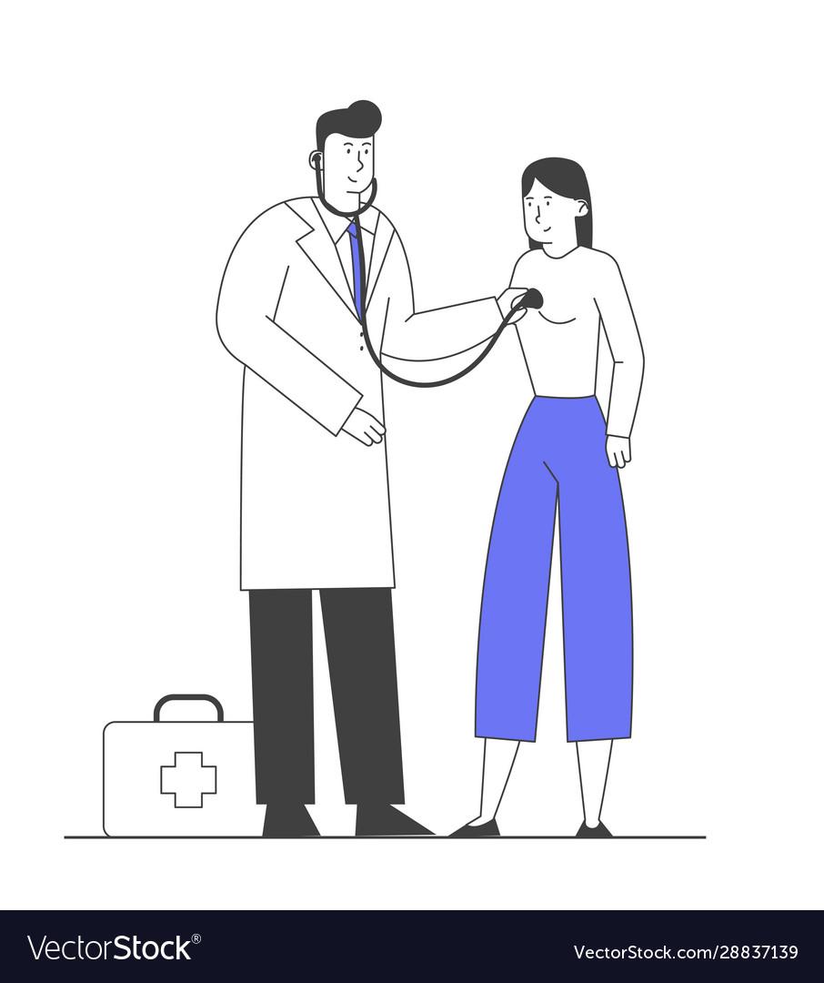 Illness and seasonal sickness concept male doctor