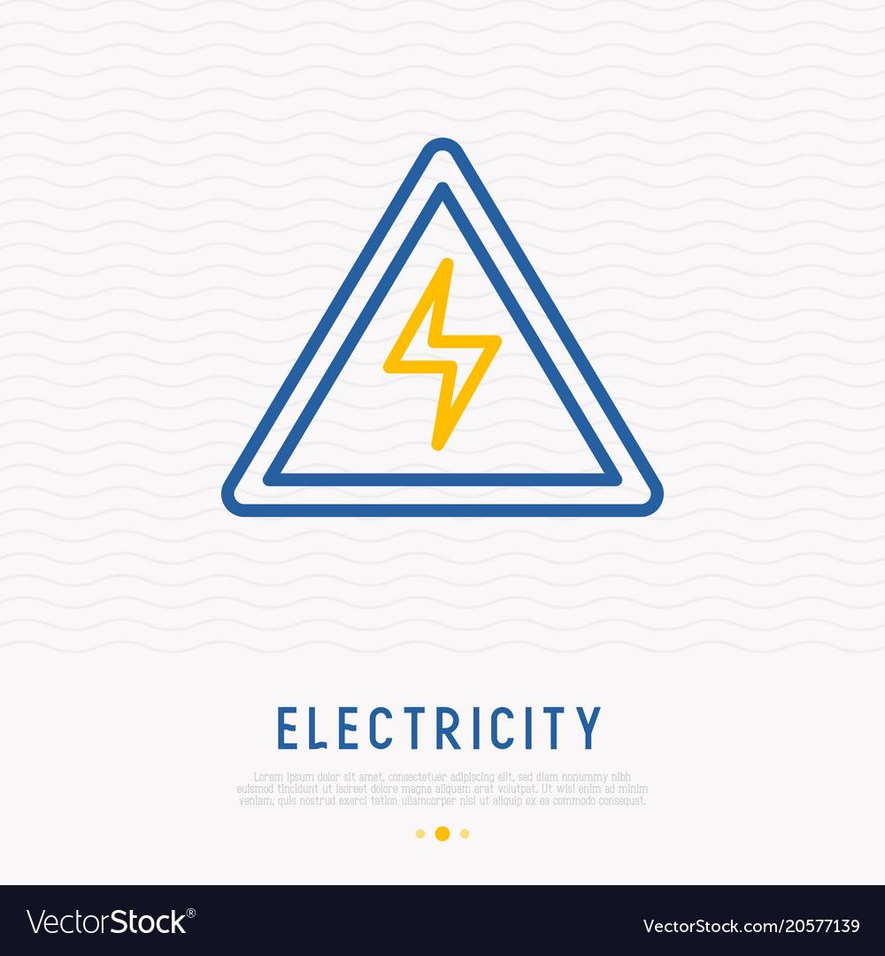 Modern warning sign danger electricity